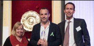 Martin picks up his Beacon Award UK Community Foundation PA