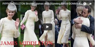 PIPPA MIDDLETON Brother James with Stunning fiancè DONNA AIR attended together Pippas Wedding