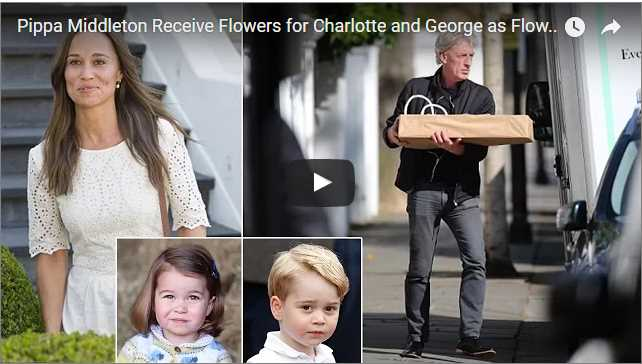 Pippa Middleton Receive Flowers for Charlotte and George as Flower Girl and Page Boy
