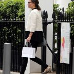 Pippa opted for monochrome chic and teamed her outfit with her favourite snakeskin flats