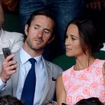 Pippa pictured at Wimbledon with James has reportedly asked guests to bring a second outfit to change into for the evening reception