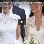 Pippa vs Kate Middleton How the royal wedding compared from similar lace wedding dresses