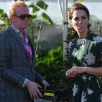Presenter Chris Evans offered Kate a cherry tomato from his Radio Two taste garden at Chelsea Flower Show and despite dropping it on the floor