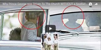 Prince George Church Seatbelt Auntie Pippa Wedding