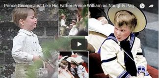 Prince George Just Like His Father Prince William as Naughty Pageboy at The Wedding