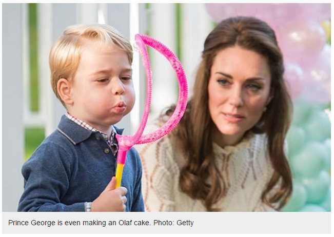 Prince George is even making an Olaf cake