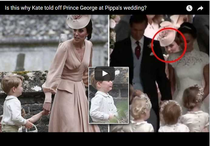 Prince George must have been under a lot of pressure to be on his best behaviour as his aunt Pippa Middleton