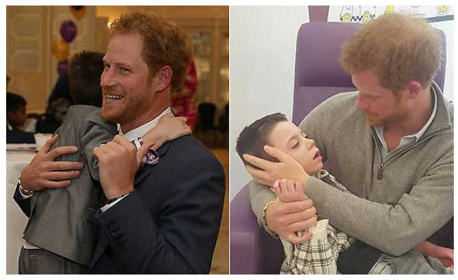 Prince Harry reunited with seriously ill boy on surprise hospital visit Photo C GETTY IMAGES