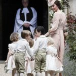 Prince William Catherine Duchess of Cambridge Prince George and Princess Charlotte Elizabeth Diana attended Pippa Middleton Wedding 0014