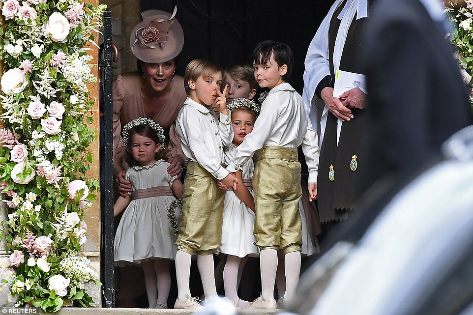 Prince George and Princess Charlotte Elizabeth Diana attended Pippa Middleton Wedding