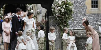 Prince William Catherine Duchess of Cambridge Prince George and Princess Charlotte Elizabeth Diana attended Pippa Middleton Wedding 0018