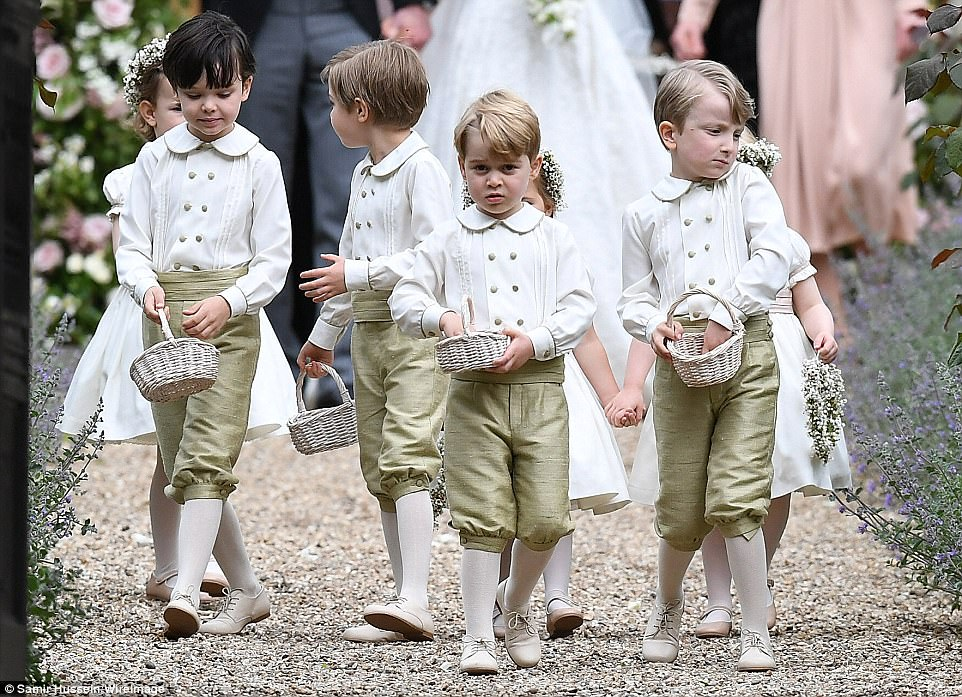 Prince William Catherine Duchess of Cambridge Prince George and Princess Charlotte Elizabeth Diana attended Pippa Middleton Wedding 0017