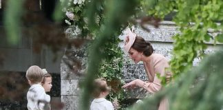 Prince William Catherine Duchess of Cambridge Prince George and Princess Charlotte Elizabeth Diana attended Pippa Middleton Wedding 0033