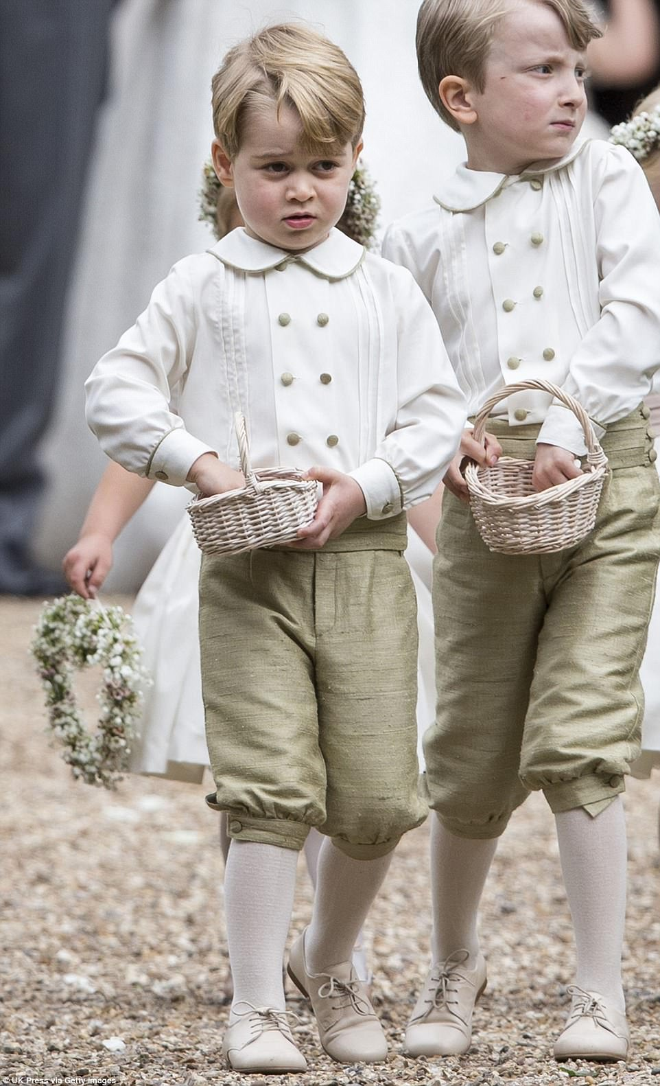 Prince William Catherine Duchess of Cambridge Prince George and Princess Charlotte Elizabeth Diana attended Pippa Middleton Wedding 0040