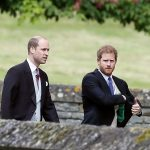 Prince William and Prince Harry walking to Church to attend Pippa Wedding 0001