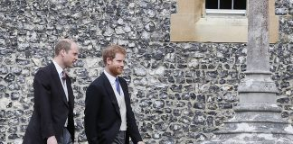 Prince William and Prince Harry walking to Church to attend Pippa Wedding 0002