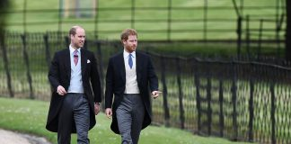 Prince William and Prince Harry walking to Church to attend Pippa Wedding 0003