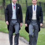 Prince William and Prince Harry walking to Church to attend Pippa Wedding 0005