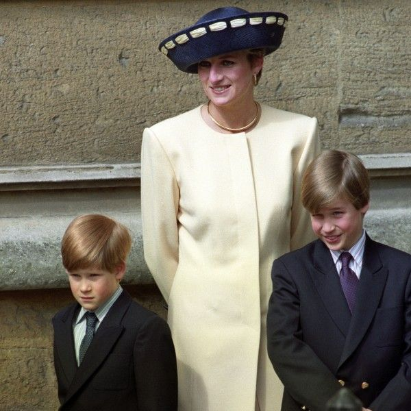 Prince William and Prince Harry with mother, Diana (Martin Keene/PA)
