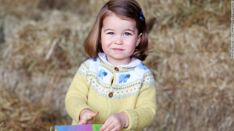 Princess Charlotte is pictured at home in April in Norfolk England in this handout image released by Kensington Palace to mark the young royals second birthday Photo C KENSINGTON PALACE