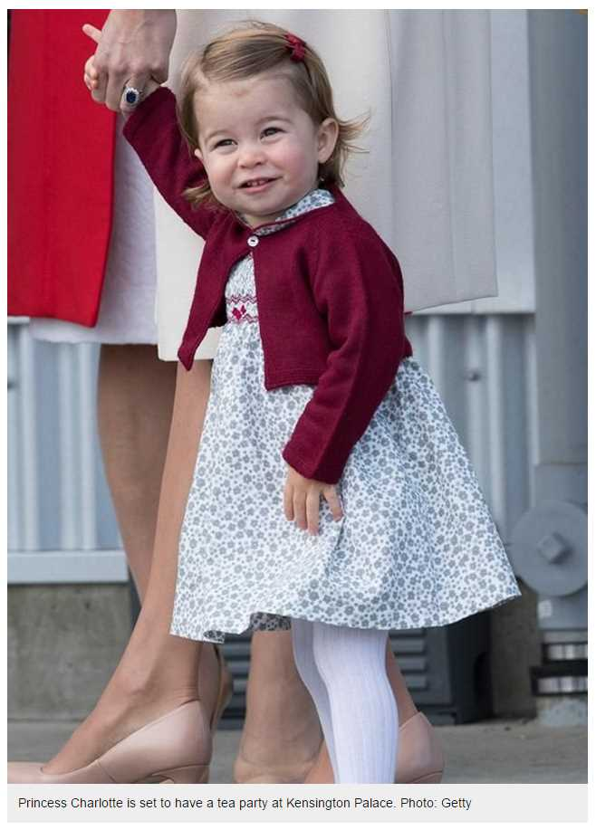 Princess Charlotte is set to have a tea party at KePrincess Charlotte is set to have a tea party at Kensington Palacensington Palace