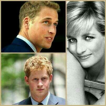 Princess Diana & Prince William & Prince Harry Photo (C) GETTY IMAGES