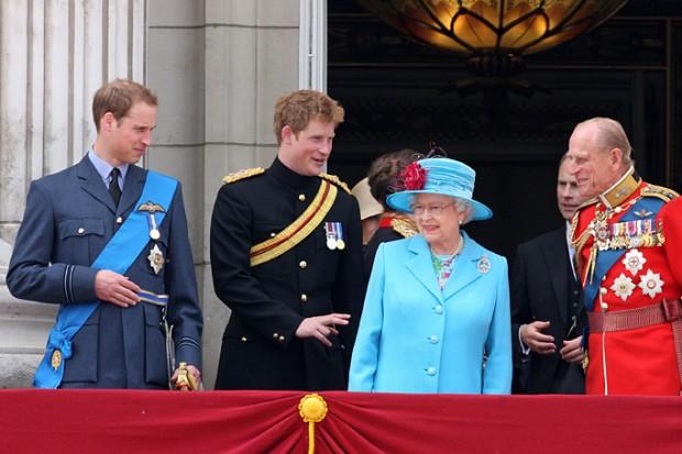 Queen Elizabeth II Prince Philip Prince Harry Princess Anne Photo C GETTY IMAGES