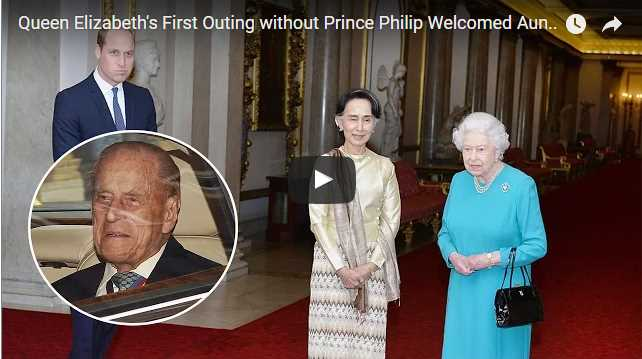 Queen Elizabeths First Outing without Prince Philip Welcomed Aung San Suu Kyi for Lunch