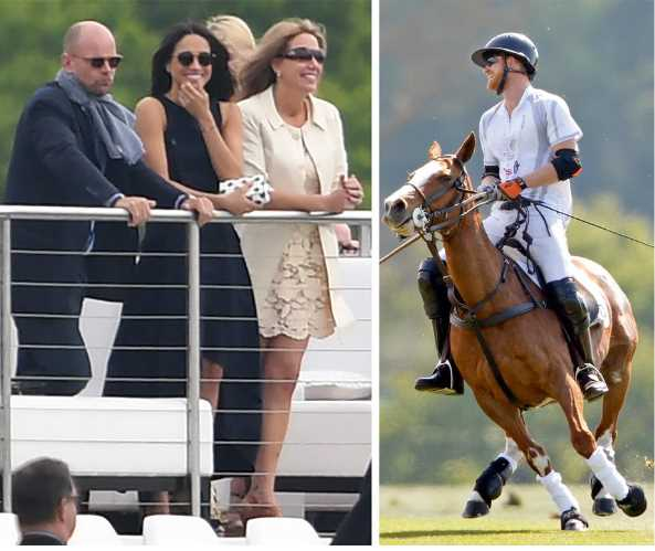 Sealed with a kiss Meghan Markle cheers Prince Harry on at the Polo Photo (C) GETTY IMAGES