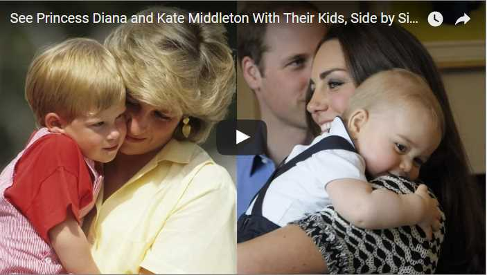 See Princess Diana and Kate Middleton With Their Kids Side by Side