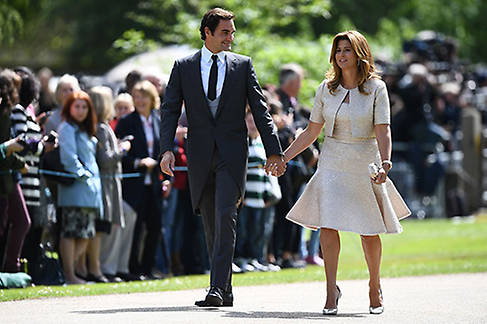 Tennis champion Roger Federer and wife Mirka Photo (C) GETTY IMAGES