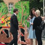 The Duchess helps unveil murals of British and Luxembourg @LeTour legends prepared by @JamesStraffon Photo C KENSINGTONROYAL TWITTER