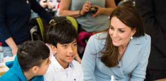 The Duchess of Cambridge visited school children during her Royal visit Getty