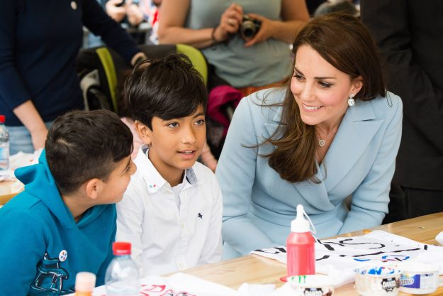 Kate Middle gave a cute update about her children Prince George and Princess Charlotte during a visit to Luxembourg Getty