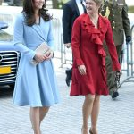 The Duchess was met by Princess Stephanie on her second solo foreign visit Photo C GETTY IMAGES