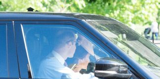 The Duke and Duchess of Cambridge who were dressed to impress were seen driving through London as they made their way to St Marks Church in Berkshire