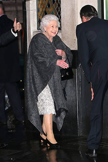 The monarch pictured leaving the birthday celebrations at the end of the evening Photo C GETTY IMAGES
