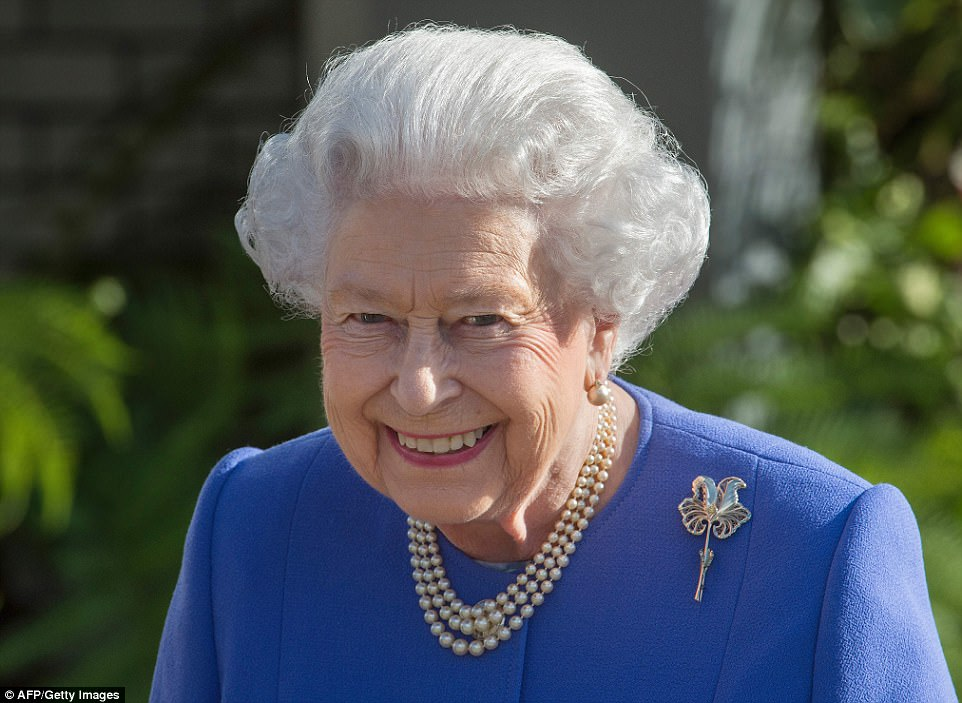 The Queen, who has a penchant for gardening, couldn't hide her delight at attending the event on Monday