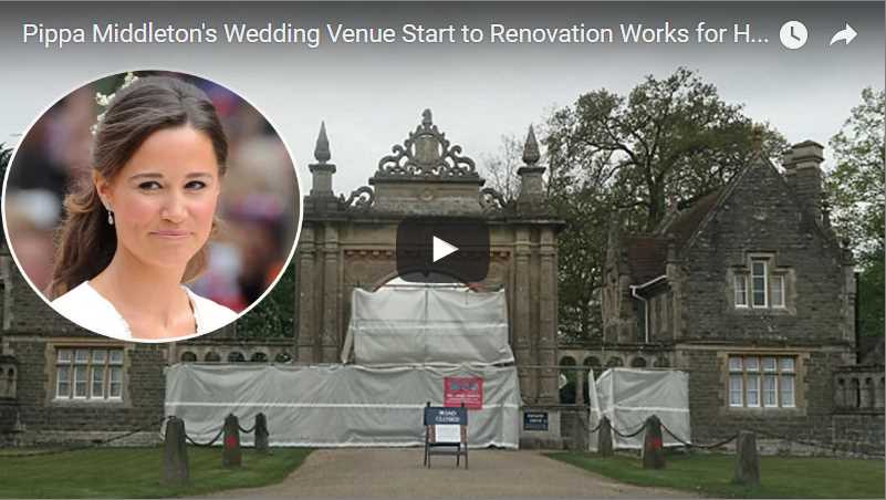 Video Pippa Middletons Wedding Venue Start to Renovation Works for Her Big Day