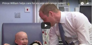 Video Prince William helps care for six year old cancer patient