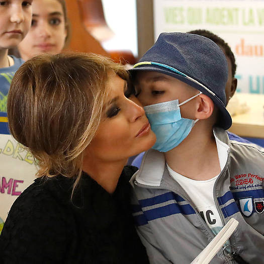 Barron Trumps mother spoke to the children in Italian which is one of the many languages she is fluent in. Photo C FRANCO ORIGLIA GETTY IMAGES
