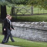 William and Harry were seen entering at St Marks Church in Englefield