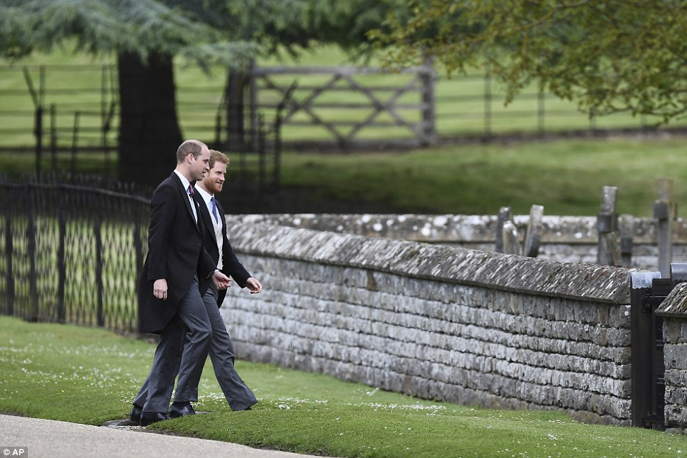 William and Harry were seen entering at St Mark's Church in Englefield Photo (C) GETTY IMAGES