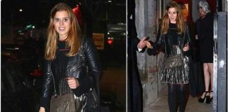 0 Princess Beatrice looks glamorous in a silver skirt for her first night out since returning to New York Photo C TWITTER