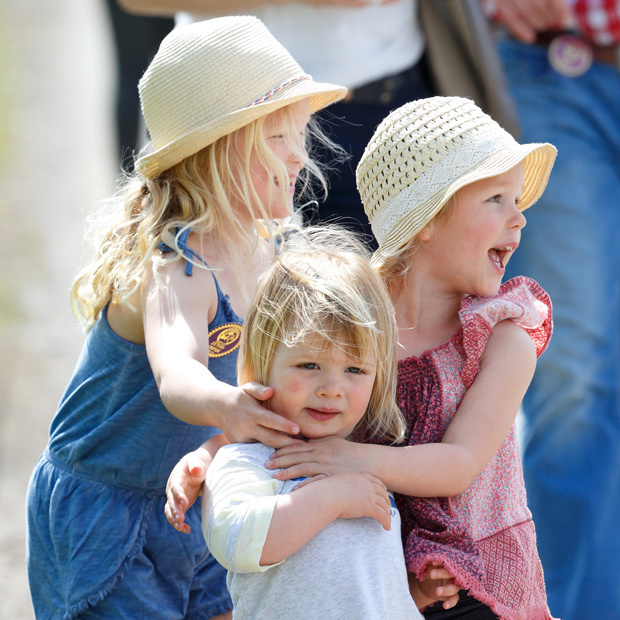 BADMINTON, UNITED KINGDOM - MAY 08: (EMBARGOED FOR PUBLICATION IN UK NEWSPAPERS UNTIL 48 HOURS AFTER CREATE DATE AND TIME) Savannah Phillips, Mia Tindall and Isla Phillips attend the Badminton Horse Trials on May 8, 2016 in Badminton, England. (Photo by Max Mumby/Indigo/Getty Images)