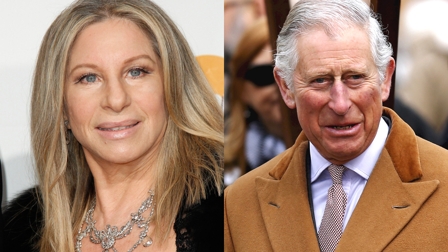Barbra Streisand and Prince Charles Photo (C) GETTY IMAGES