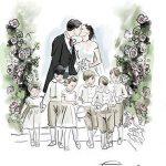 1 Jennifer illustrated Pippas gorgeous gown. Copyright Sara Japanwalla