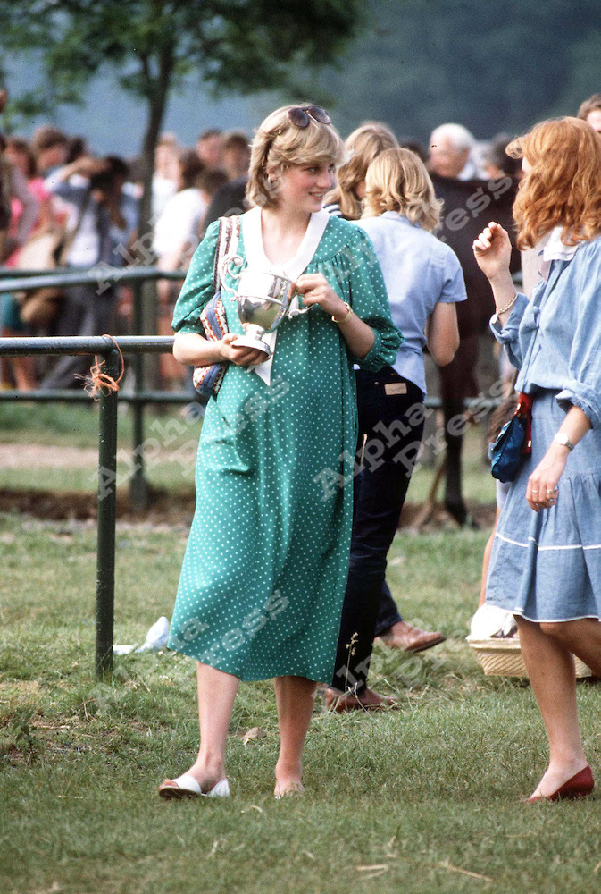 PRINCESS DIANA AND SARAH FERGUSON -ATTEND POLO -AT WINDSOR -{JUNE 1982}