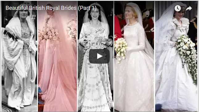 Beautiful British Royal Brides