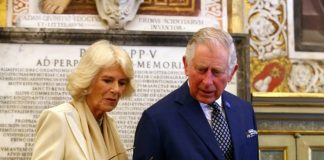 Britains Prince Charles and his wife Camilla Duchess of Cornwall arrive to visit the Vatican Apostolic Library at the Vatican Photo C REUTERS Alessandro Blanchi